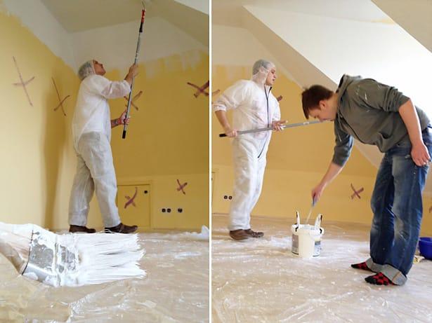 Freiwillige renovieren in der Hausgemeinschaft Münsterstraße, Alsterdorf Assistenz West