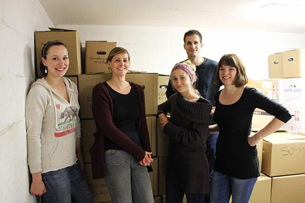 Das tatkräftig-Freiwilligenteam am Ende der Sortieraktion