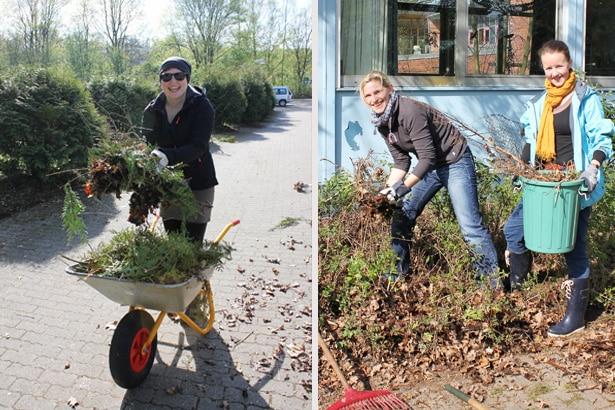 Freiwillige Hilfe bei der Gartenarbeit