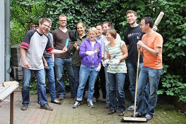Das Freiwilligenteam von Gruner + Jahr