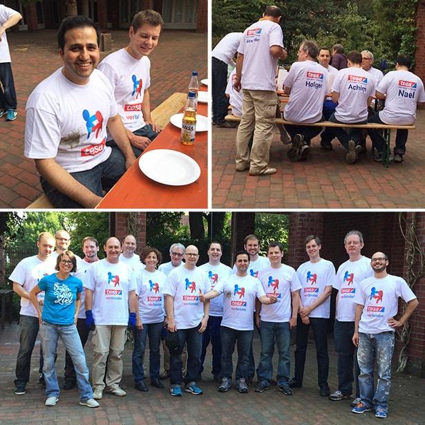 Freiwilligengruppe von tesa