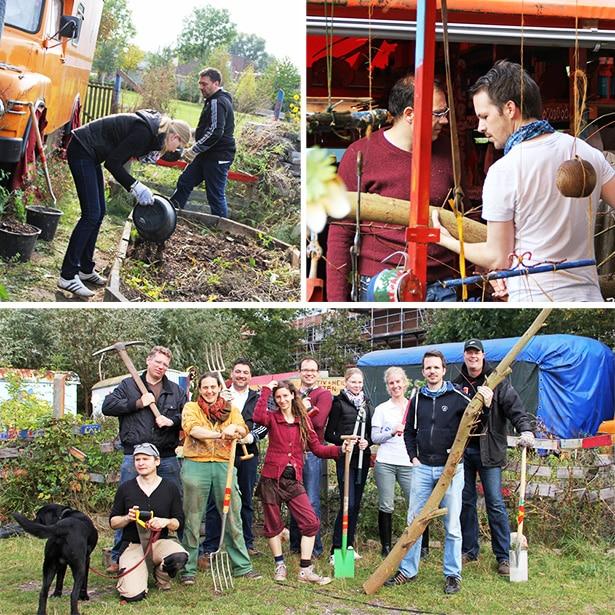 ehrenamtliche Hilfe im Kunstgarten Wilhelmsburg