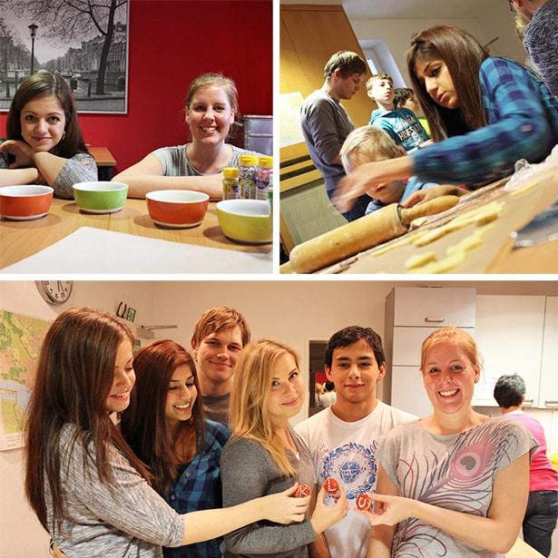 Ehrenamtliches Engagement im Rahmen eines tatkräftig-Projekts, Weihnachtsbäckerei im Rauen Haus
