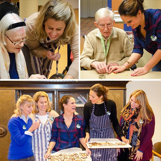 Ehrenamtliches Engagement im Rahmen eines tatkräftig-Projekts, Weihnachtsbäckerei im ELIM