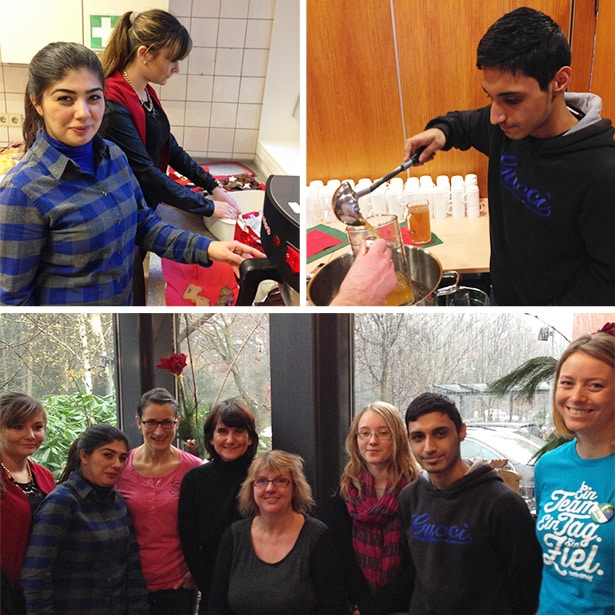 Ehrenamtliches Engagement im Rahmen eines tatkräftig-Projekts, Weihnachtsfeier IlseWilms