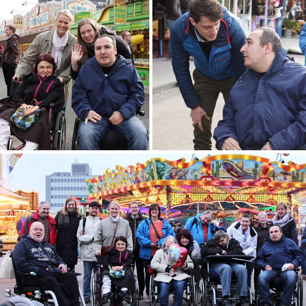 Domausflug für Menschen mit Behinderung dank Begleitung von fünf tatkräftigen Freiwilligen