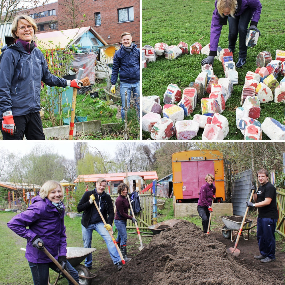 tatkräftig-Projekt im Kreativgarten Wilhelmsburg - ein soziales Projekt des KiöR e. V.