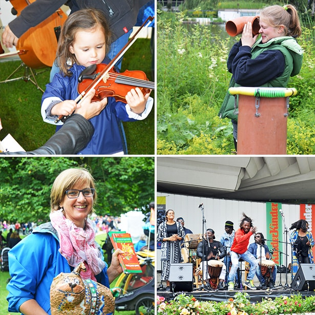 "6 tatkräftig-Freiwillige auf dem Kindermusikfest ""laut und luise"""