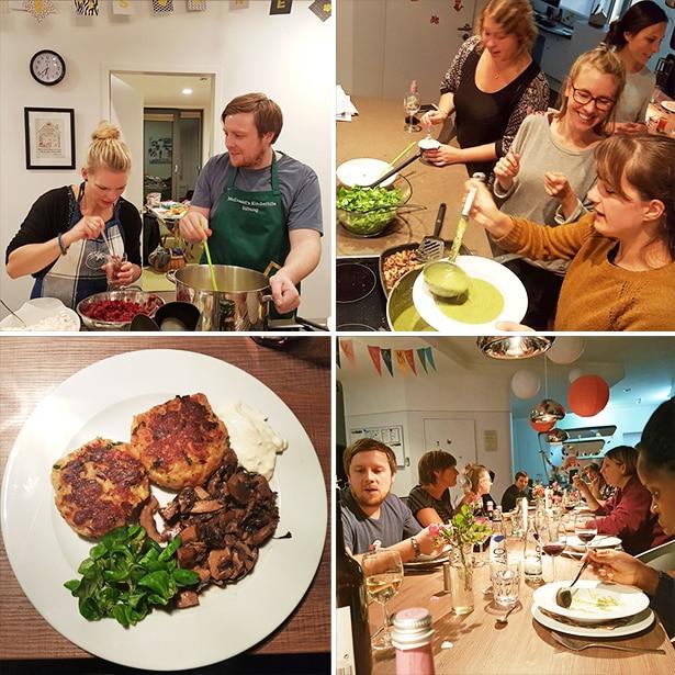 tatkräftig-Büroteam beim 20. Kochabend im Ronald McDonald Haus Altona