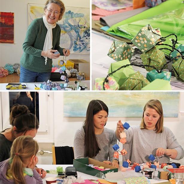 Über 50 Freiwillige haben beim großen Crafting-Aktionstag im Haus 73 insgesamt 620 schöne DIY-Produkte für soziale Einrichtungen gefertigt