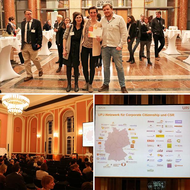 Team tatkräftig auf der UPJ Jahrestagung 2018 in Berlin