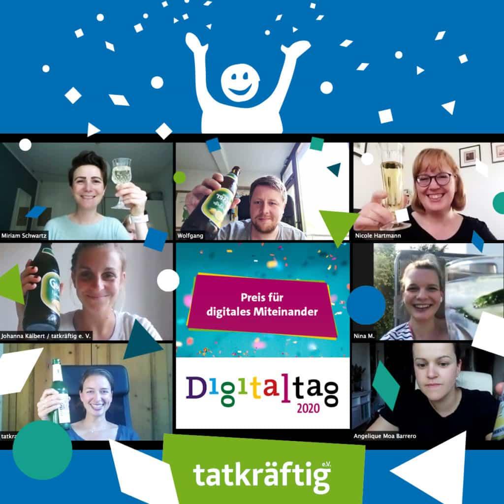 tatkräftig e. V. gewinnt Preis für digitales Miteinander