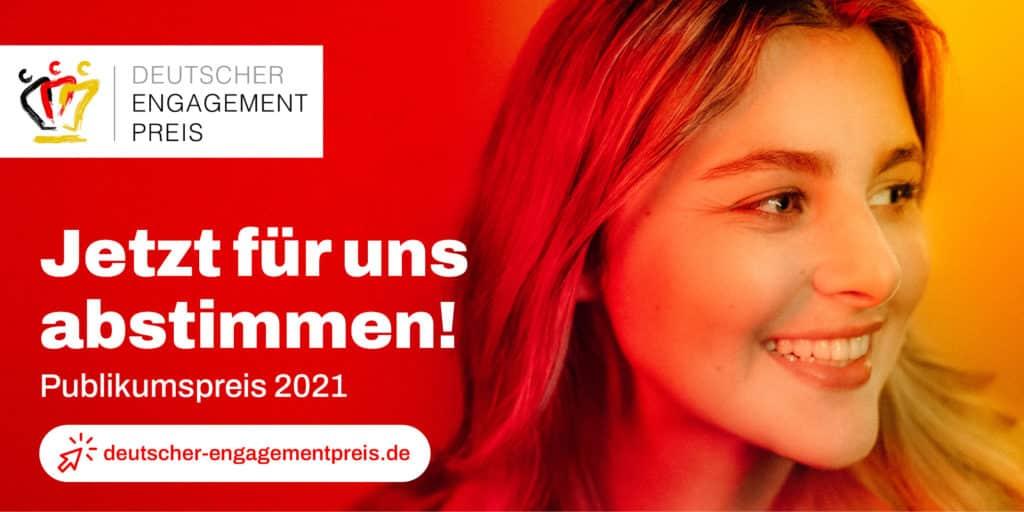 Wir brauchen eure Stimme beim Deutschen Engagementpreis!